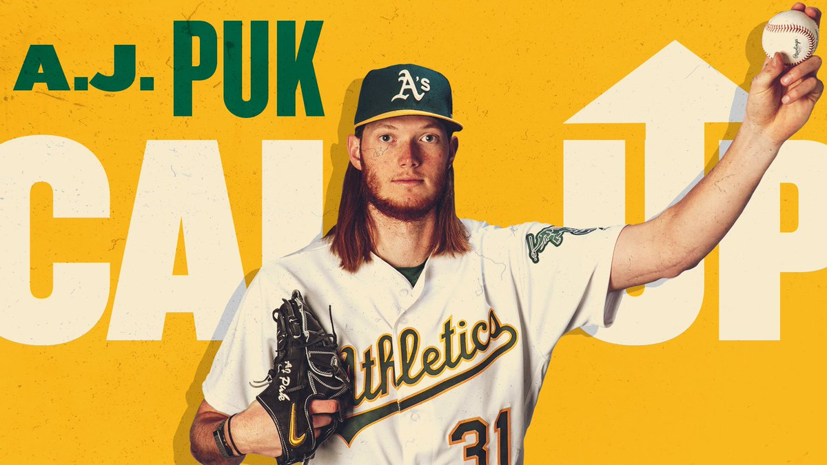 Nothing can stop him he's all the way up! A.J. Puk has been called up. #RootedInOakland <br>http://pic.twitter.com/dbAe8pbnSU