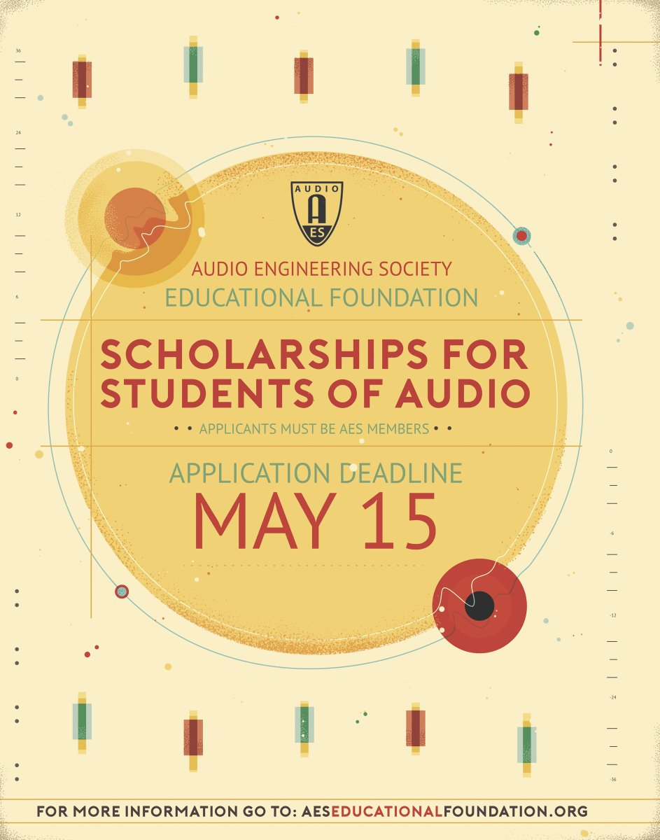 """Congratulations to this year's recipients! - """"AES Educational Foundation Announces Scholarships for 2019""""   http:// aes.org/blog/2019/8/ae s-educational-foundation-announces  …   #AESorg #proaudio #audioengineer <br>http://pic.twitter.com/5vzwCfUJpJ"""