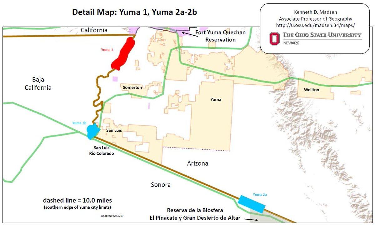 Map Of Yuma Arizona And Surrounding Area.Laiken Jordahl On Twitter Borderwall Update Trump Is Pushing