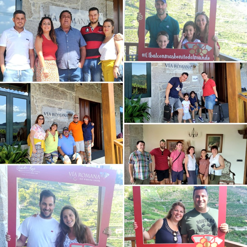 Muchísimas gracias, enoturistas de Alicante, Málaga, Córdoba, A Coruña, Barcelona, Madrid, Valladolid, Canarias... por visitarnos este martes en #VíaRomana 🍷#RibeiraSacra.