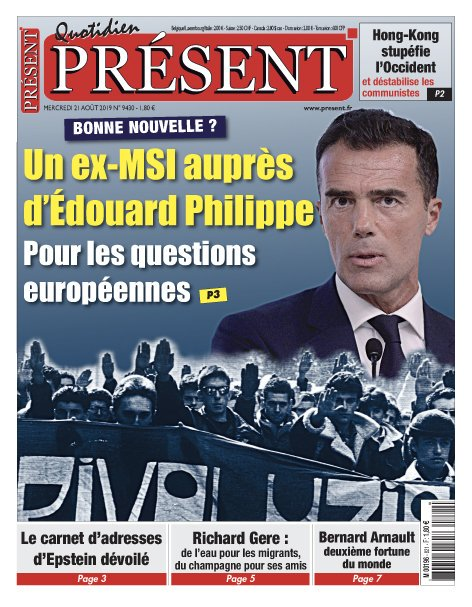 Un ex-MSI pour aider Édouard Philippe  #Gozi #MSI   https:// present.fr/2019/08/20/un- ex-msi-pour-aider-edouard-philippe/  … <br>http://pic.twitter.com/836hWooDun