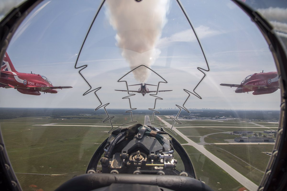 Fantastic views from Red 10's jet flying into Atlantic City today. Images by Sgt Ashley Keates #RedArrowsTour<br>http://pic.twitter.com/uxEHbYHuJI