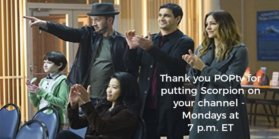 @Viacom @PopTV#Scorpion4NonViolence Thank you @BSSchwartz and @PopTV for continuing your support of @ScorpionCBS . Scorpions non violent stance is exactly what the world needs now. One other show you should consider @BSSchwartz @instinctcbs 2 intelligent shows BackToBack @CBS https://twitter.com/pjstevens0101/status/1163839449085763584 …