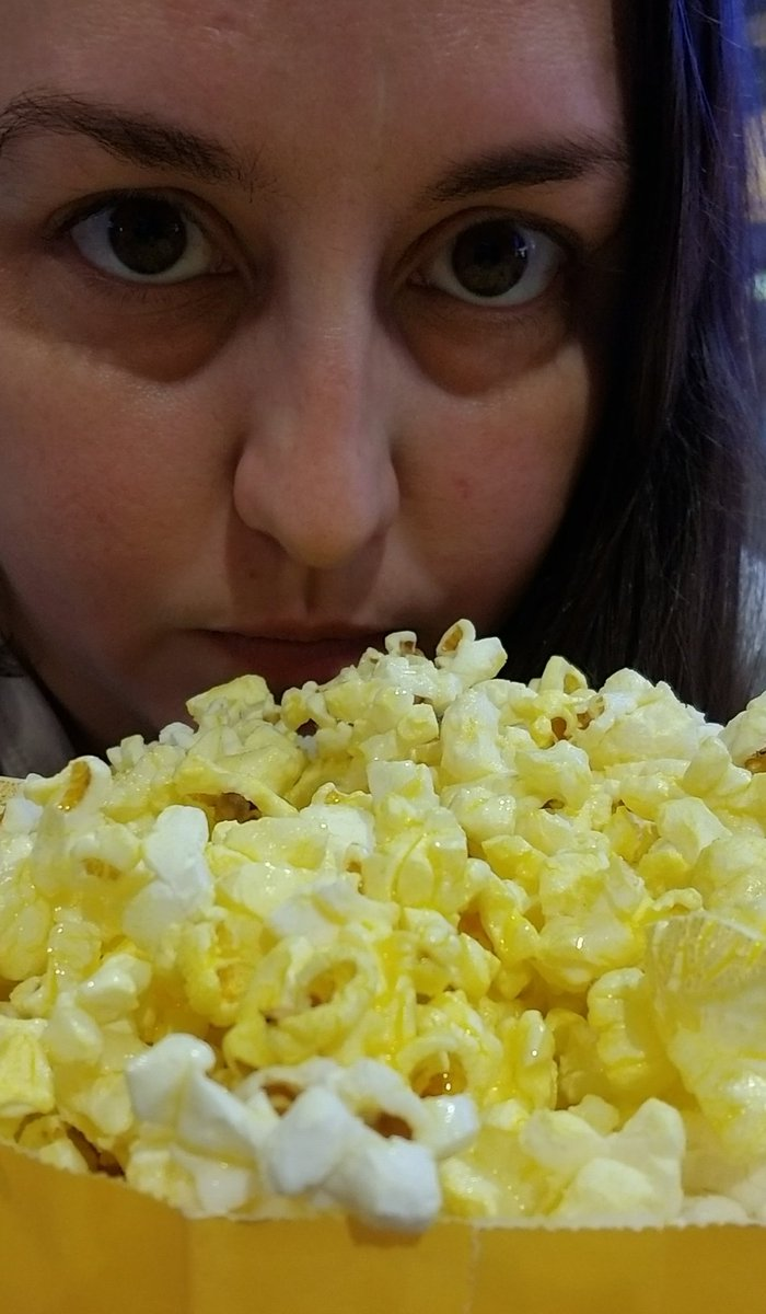 Waiting for @njnic23 so we can see #ReadyOrNot and support @MelanieScrofano. Taking creepy popcorn selfies to get in the mood. #ReadyOrNotMovie<br>http://pic.twitter.com/pO6Qcuqww9