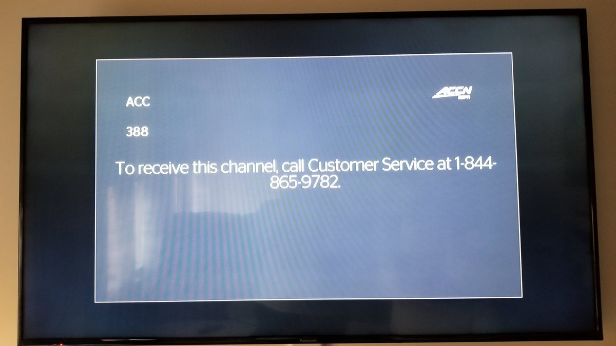 spectrum acc channel number