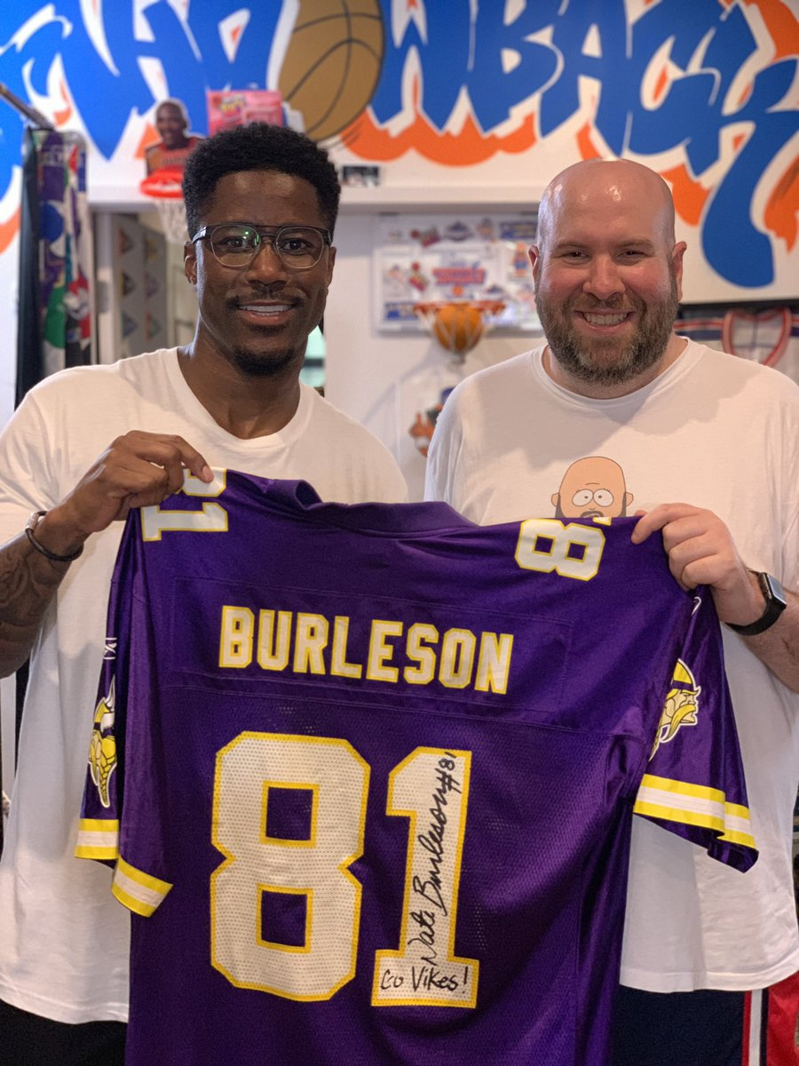 @nateburleson stopped by today!!! Great Guy!!! Had to get my Vikings jersey signed