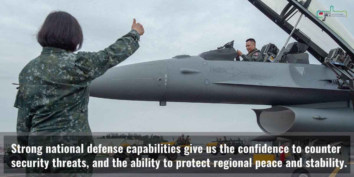 I want to thank the #US government for notifying the Congress of the sale of F-16V fighters to #Taiwan. We will continue to cooperate closely with the US on security issues, contribute to peace & stability in the Taiwan Strait, and safeguard our freedom & democracy.<br>http://pic.twitter.com/E6VQ9juRN8