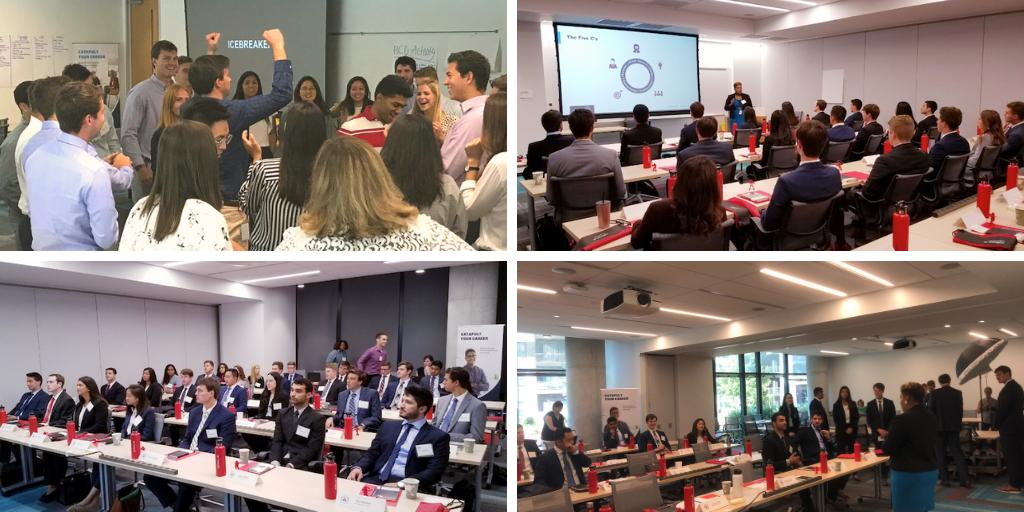 What an exciting day! Class of 2019 officially begins its journey with NAAC! The day began with words of wisdom from their fearless leader Angela Hurdle. #classof2019 #oracleconsulting #whatgreatlookslike<br>http://pic.twitter.com/NN5bZyZkpJ