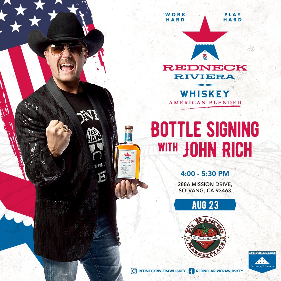 California here I come! ⁦@RedneckRiviera⁩ #Whiskey autograph session this Friday👍🏼 #DrinkAmerican