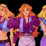 Image for the Tweet beginning: These three iterations of Zelda
