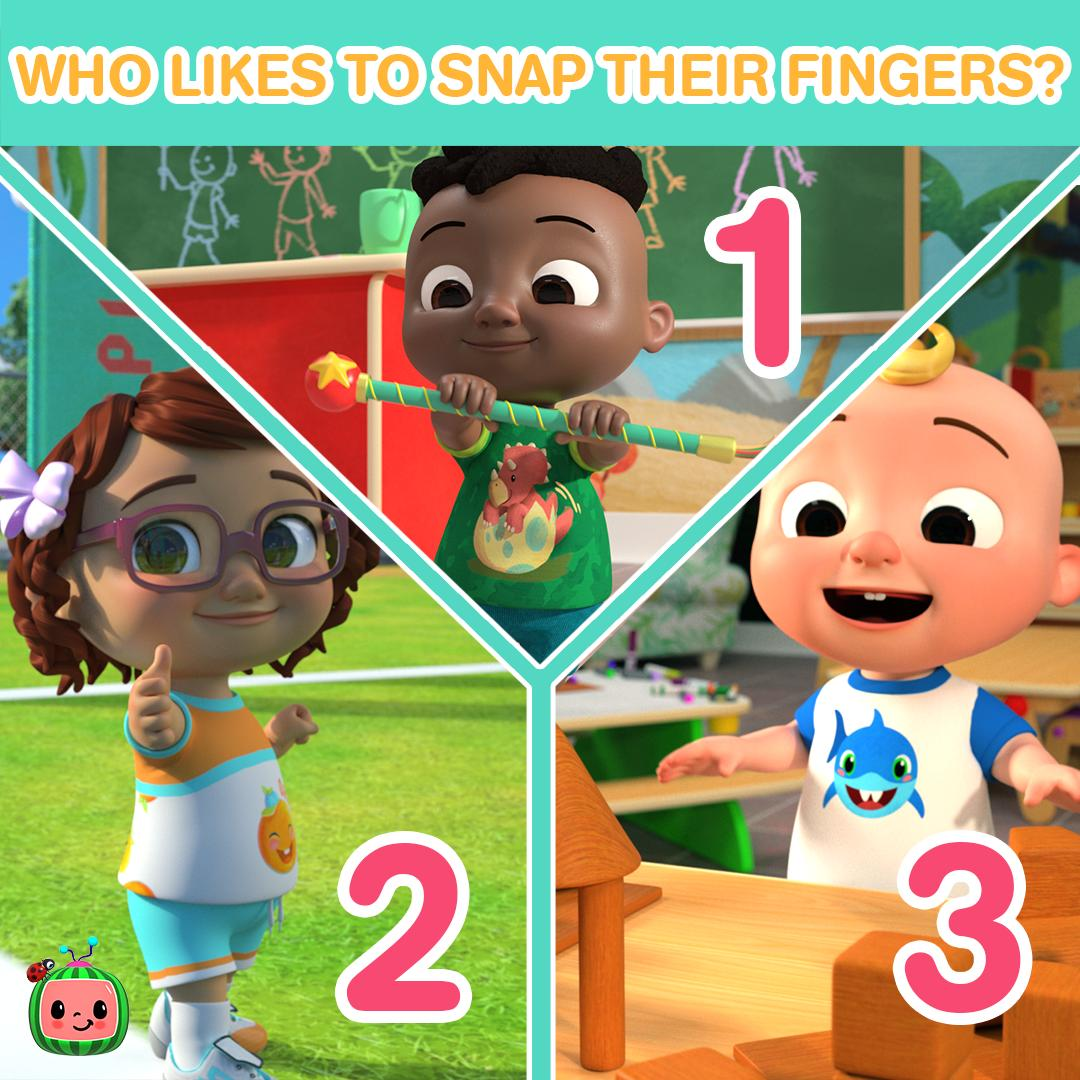 Cocomelon On Twitter Ms Appleberry Likes To Read Nina Likes To Jump Cece Likes To Dance Who Likes To Snap 1 Cody 2 Bella 3 Jj If You Want To Refresh Your