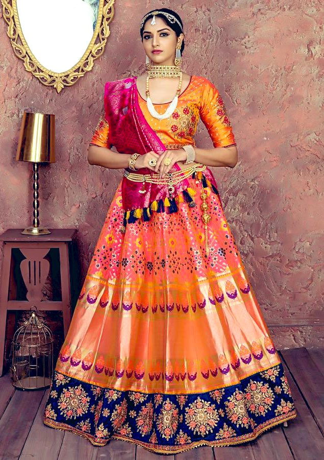 Wedding Lehenga can be heavy and luxurious but bridesmaid lehenga will be light and exclusively is rich in shine and patterns.  Shop with https://indianfashionfollower.com  Or write us here by direct messaging.