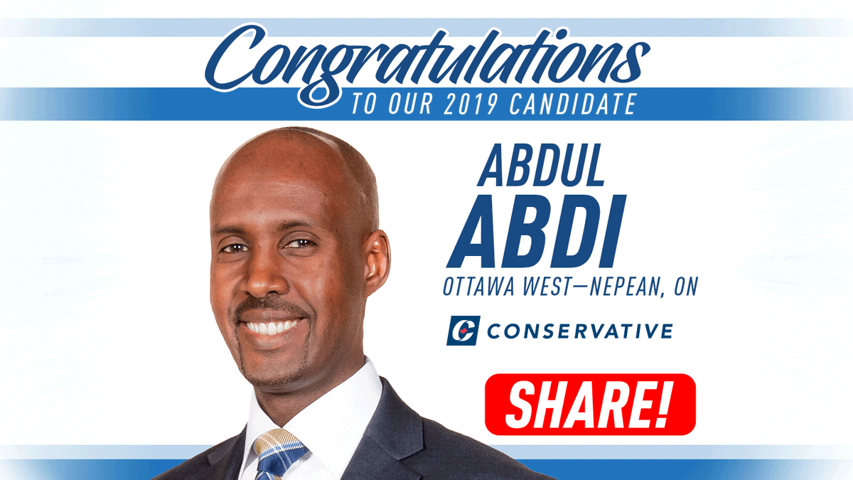Welcome, Abdul Abdi to the Conservative Team! The momentum is building for our positive Conservative vision - RT the good news!  #cdnpoli<br>http://pic.twitter.com/4YZSzDpRJx