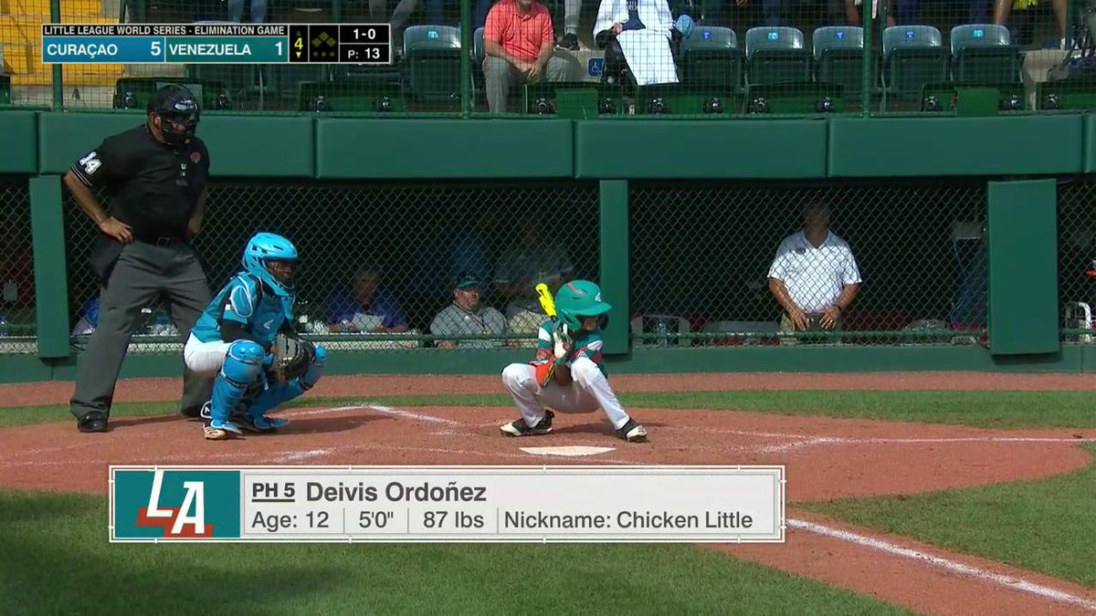 Chicken Little gets little ➡️ successful bunt #LLWS