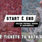 Image for the Tweet beginning: START & END College Football