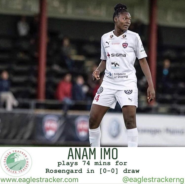 Super Falcons, Anam Imo @anam_imo & Osinachi Ohale @OhaleOsinachi faced off as #rosengard played out a [0-0] draw vs #vaxjo in the #sweden #obos #damallsvenskan ————— More on  http:// eaglestracker.com     Link in bio ————— #eaglestracker #superfalcons #anamimo #team9jastrong <br>http://pic.twitter.com/fA9viPbNEq