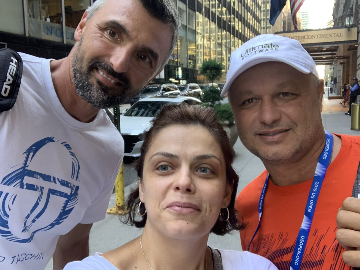 In was an honor meeting these two. I love the game of Tennis and can't wait for th @usopen to start. Team @DjokerNole<br>http://pic.twitter.com/uLBHo2sylT