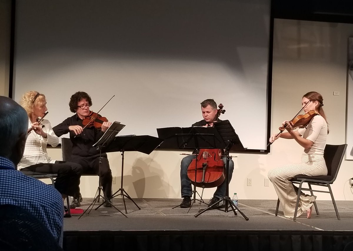 test Twitter Media - Yesterday, Brewer Science employees & their families enjoyed a private concert from the Jacques Thibaud String Trio & Eugenia Zukerman.  The Trio will perform later this week with guest artist Tao Lin. You can find more information on the concerts here (https://t.co/to0JBVA22v). https://t.co/Kz00nBYdnP
