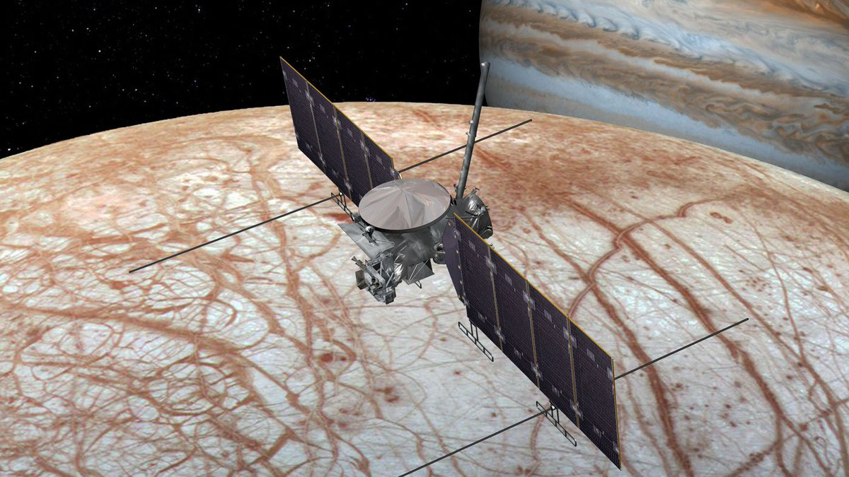 Could an icy ocean world have conditions suitable for life? @EuropaClipper will travel to a moon of Jupiter to investigate: go.nasa.gov/31T3wkc