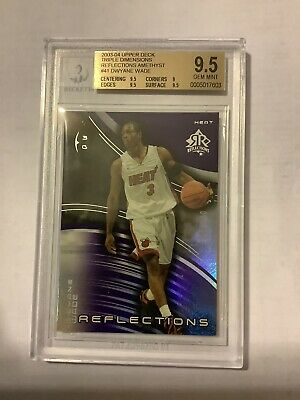 2003-04 DWYANE WADE UD TRIPLE DIMENSIONS REFLECTIONS AMETHYST RC BGS9.5 /300: $39.99 (0 Bids) End Date: Tuesday Aug-20-2019 15:55:55 PDT Bid now | Add to watch list https://t.co/ODYtepc1bN https://t.co/SmUuINBBq5