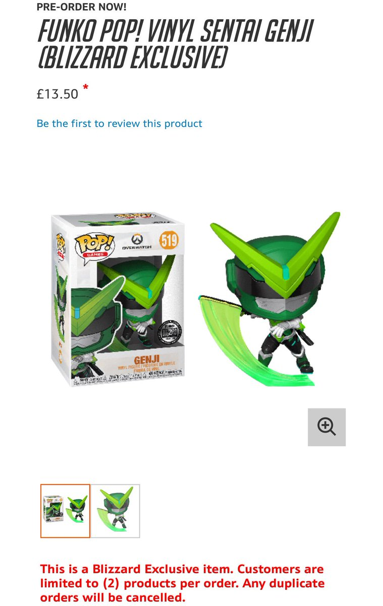 The Blizzard Exclusive Sentai Genji pop is available now on