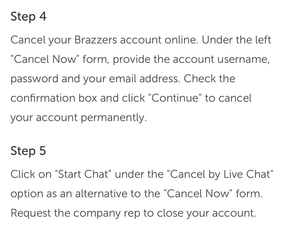 How to cancel a brazzers subscription