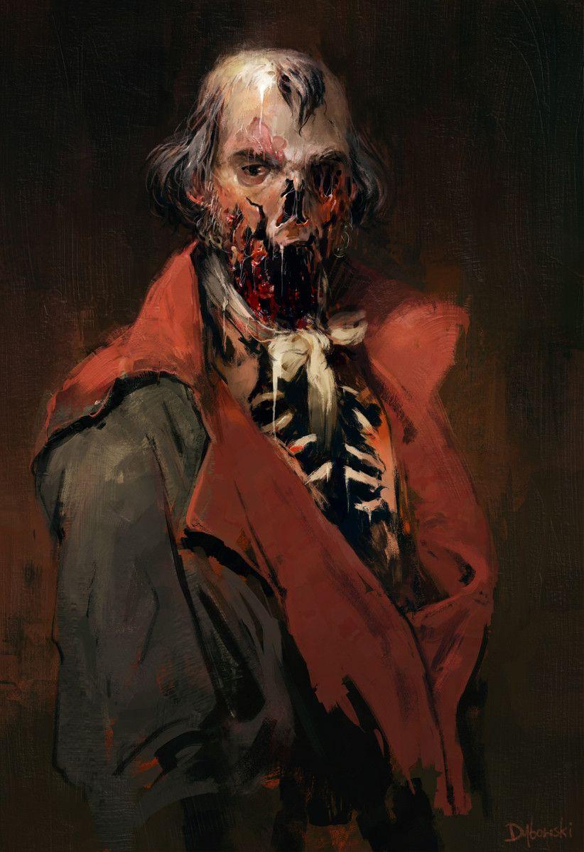 Portrait by Andrzej Dybowski #Art #Horror #HorrorArt