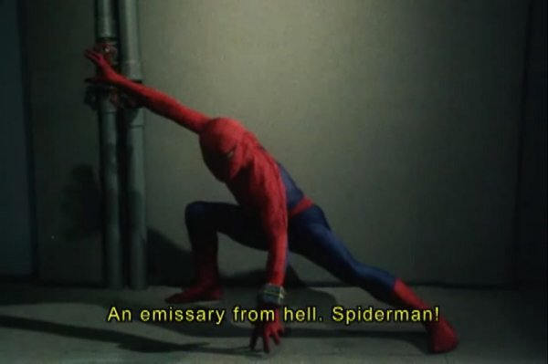 My timeline is awash with Spider-Man takes of all temperatures, so here's mine: give the rights back to Toei and let them make a modern day tokusatsu Emissary from Hell. <br>http://pic.twitter.com/Reypbt779I