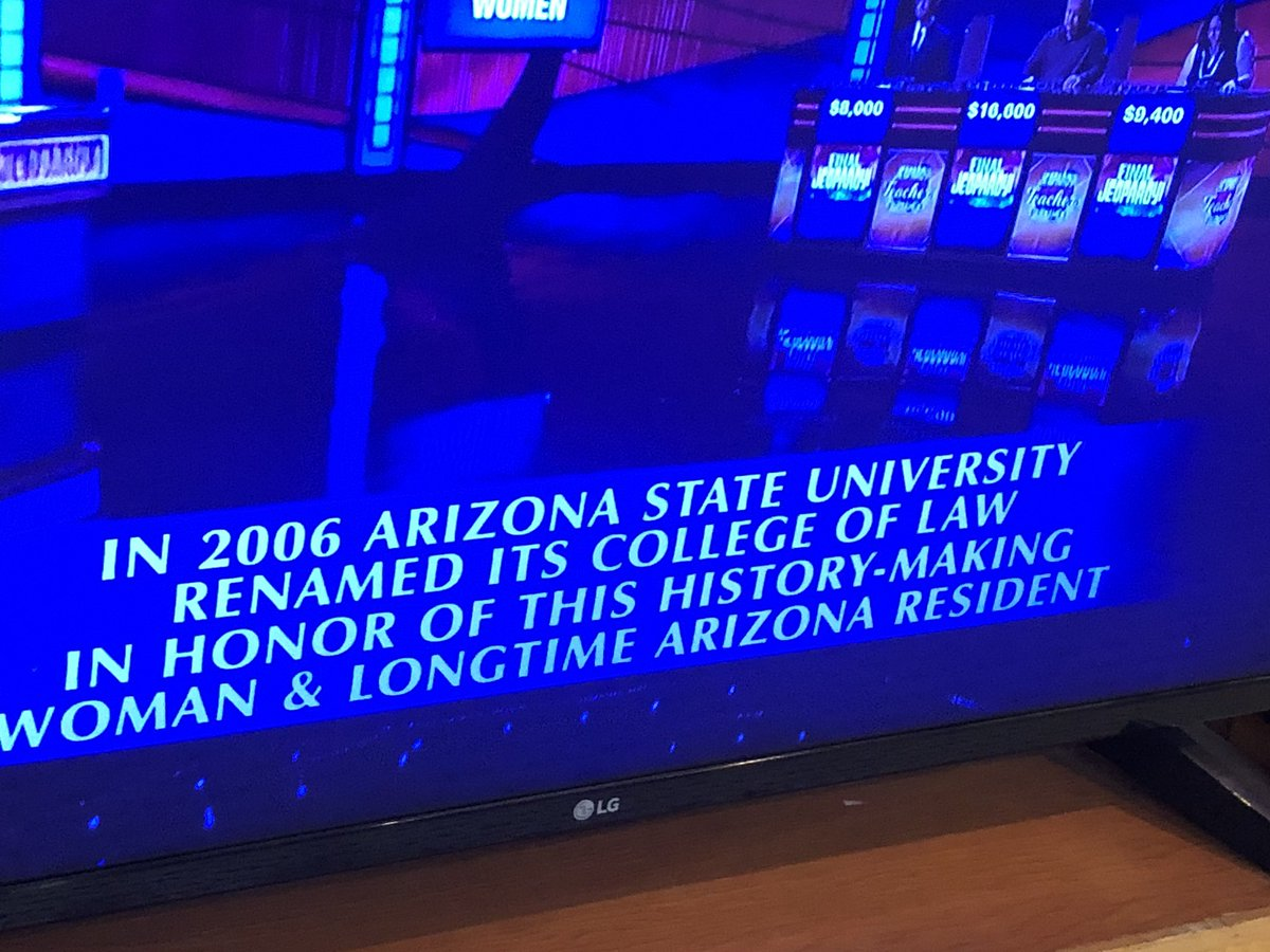 When a groundbreaking #LadyLawyer is the answer on Final Jeopardy!<br>http://pic.twitter.com/CnF6oDq0RZ
