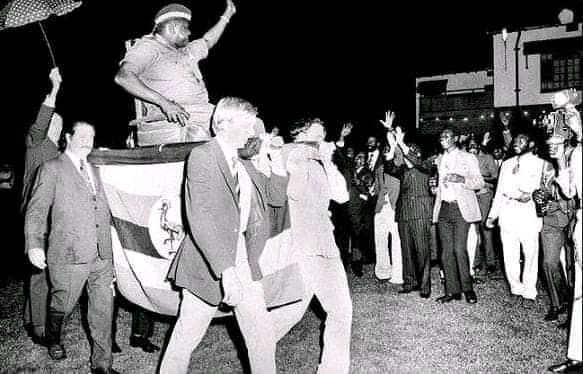 One day we will all stand taller than these racists. And this photo of Idi Amin Dada is what these racists will never want to show the world.  #istandwithpogba<br>http://pic.twitter.com/JEabE307UL