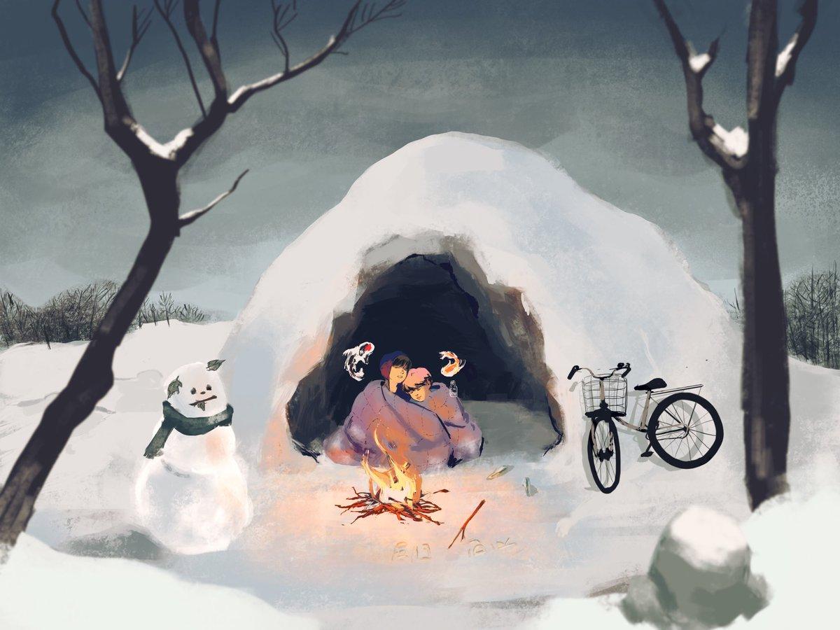 winter bears  i had lots of fun painting this   #JIMIN #V #taehyung #vmin #unknownau<br>http://pic.twitter.com/zuzR7CoklK