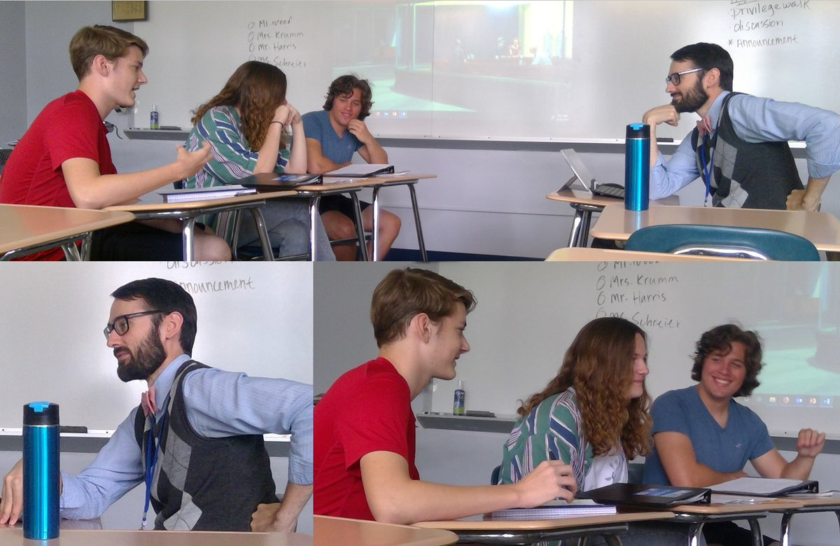 Earlier this week, #VPHawks #APUSH students teamed up against the formidable Mr. Wood for a debate
