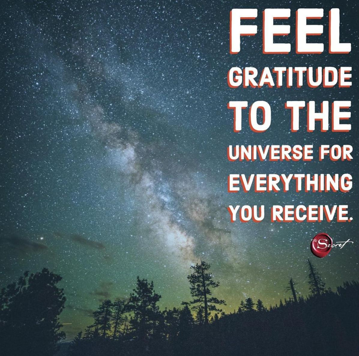 Feel genuine gratitude to the Universe for everything you receive in your life. What wonders have you received lately? <br>http://pic.twitter.com/e5cctLeuZy