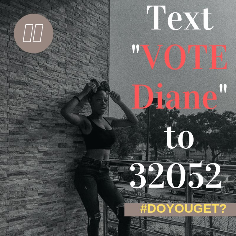 """One pezin:  FINE FACE CLEAR SKIN  BREAST NATION  LIP GANG  MAGNETIC EYES  HARD NIPPLE (according to Elo) INTELLIGENT  SWEET  CARING   One smile like this and sons of Zion don off pants!    SMS """"VOTE Diane"""" to 32052    #bbnaija<br>http://pic.twitter.com/qyZ0wAFPEd"""