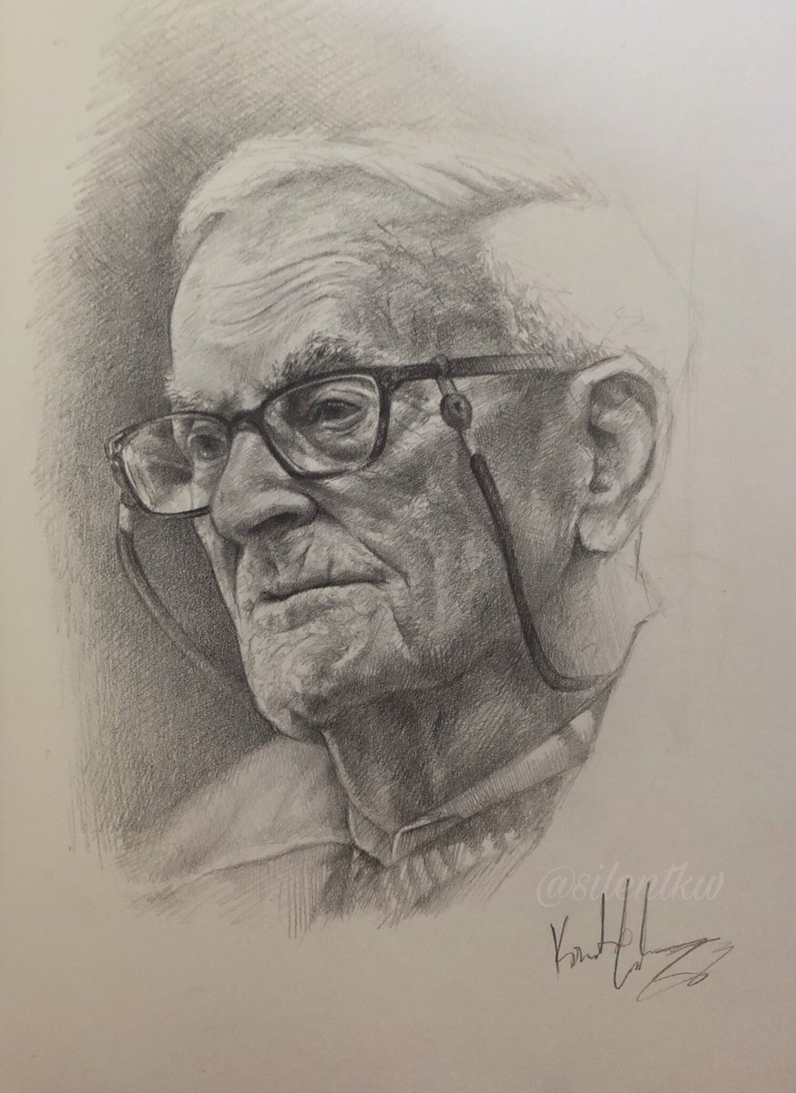 "My sketch of Harry Leslie Smith  ""The World's Oldest Rebel""  Graphite pencil on moleskine paper #tbt #artistontwitter<br>http://pic.twitter.com/4Fo8OasaGd"