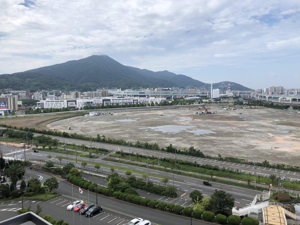 おはようございます。 昨日会社の記念式典で北九州のホテルに お泊まりしたのですが、  この目の前の土地はスペースワールド跡です。  朝起きて眺めて改めて悲しみの気持ち溢れました😢😢😢