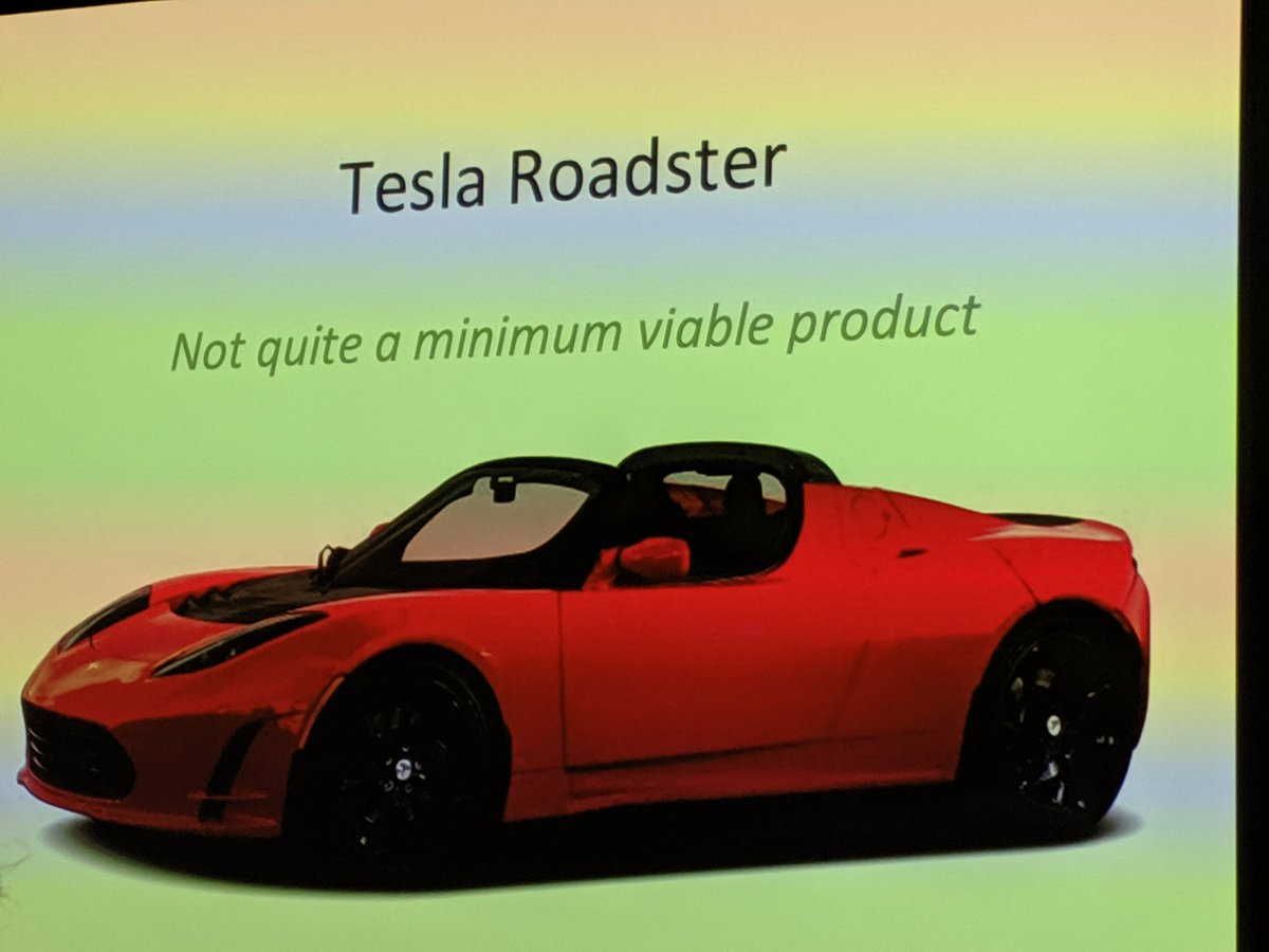 Excited to hear Tesla Co founder Marc Tarpenning talk about developing the roadster -- Developing Products When Iteration is Hard  @mtarpenning @Tesla @danolsen @LeanProdMeetup #prodmgmt #LeanStartup <br>http://pic.twitter.com/9Q9tKsSx0A