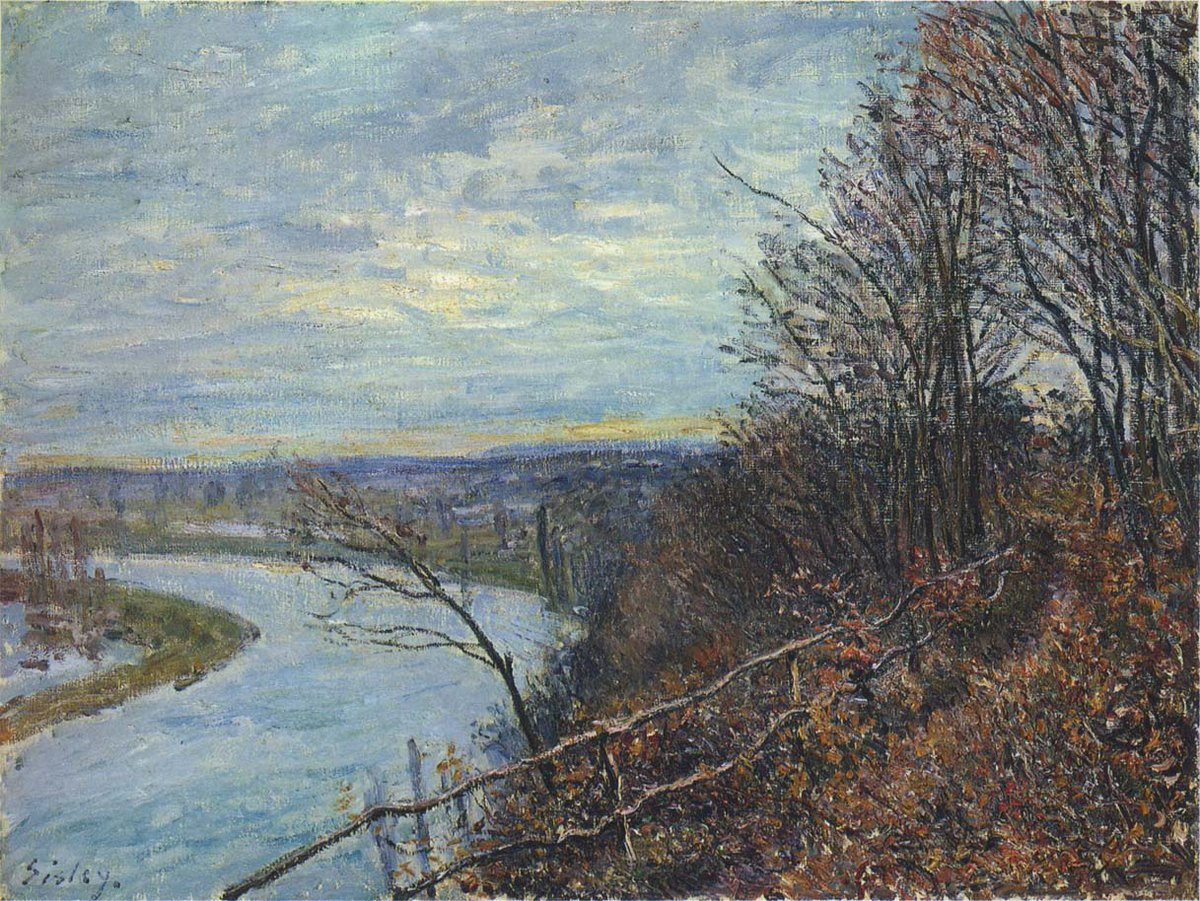 November Afternoon, 1881 #impressionism #frenchart<br>http://pic.twitter.com/wd9qFmohqQ