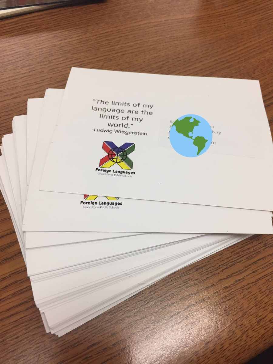 Postcards to welcome my new French students to GFC are done and in the  mail. #BackToSchool2019<br>http://pic.twitter.com/5FnEsrI038