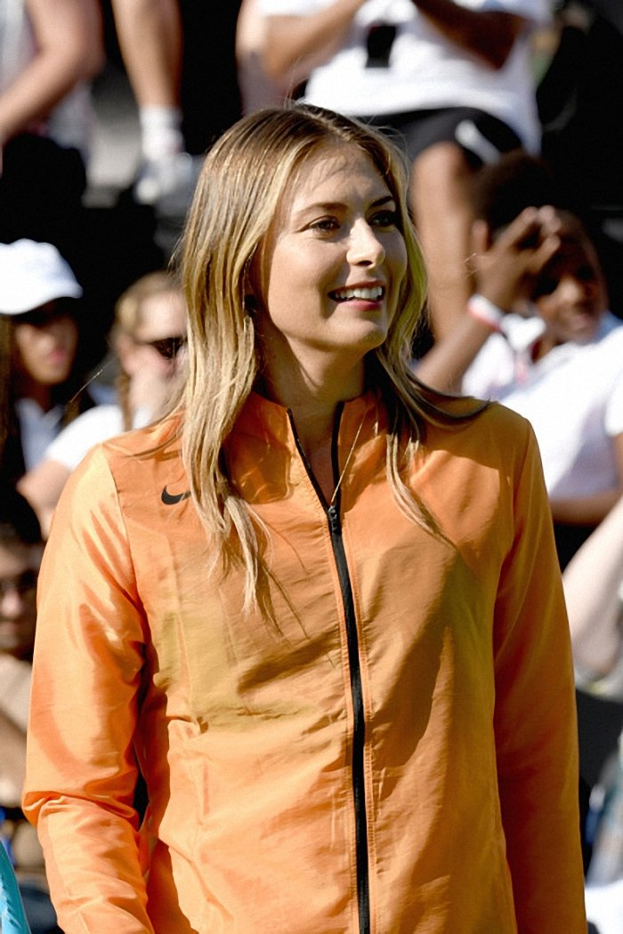 ".@MariaSharapova attends the ""Queens of Tennis"" experience hosted by @Nike in NYC.   : Gary Gershoff<br>http://pic.twitter.com/DH0ECFJMr5"