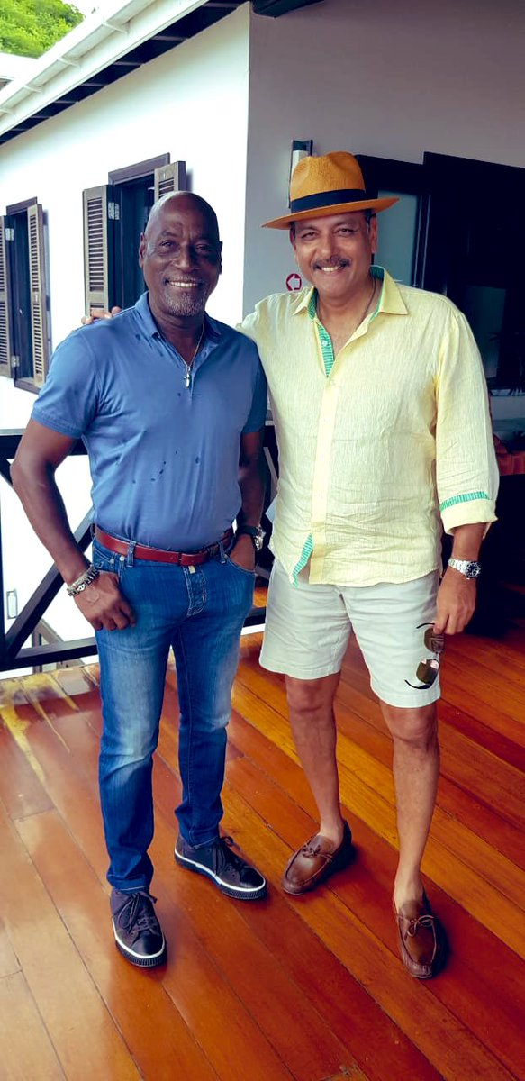With My Maan. The King in his Kingdom. Antigua. @ivivianrichards #WIvIND