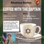 Image for the Tweet beginning: Coffee with the Captain event