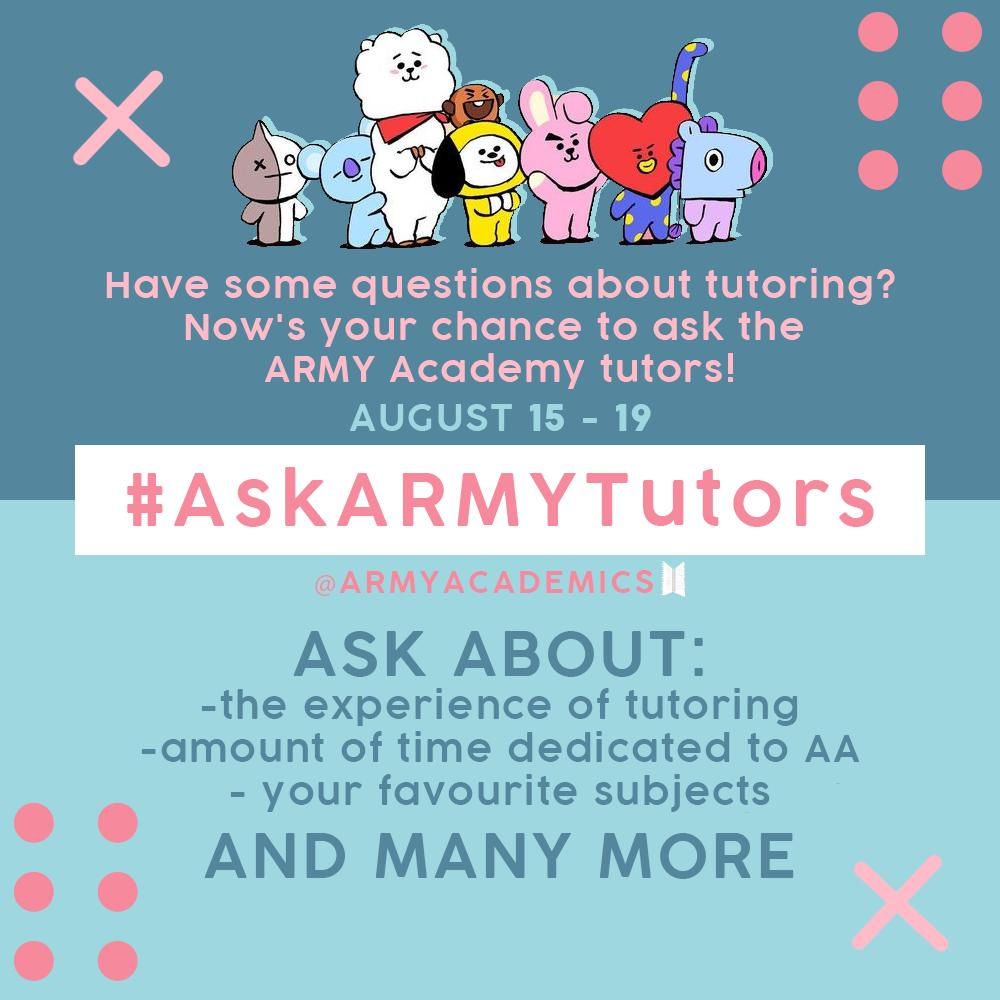 Hello everyone! We will now be posting the answers you guys asked through the hashtag #AskARMYTutors!<br>http://pic.twitter.com/1An1yigtmX
