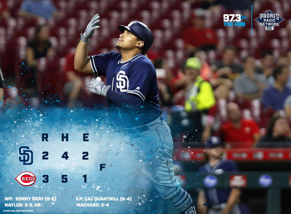 This one is over. The Padres fall to the Reds in Game 2, 3-2.