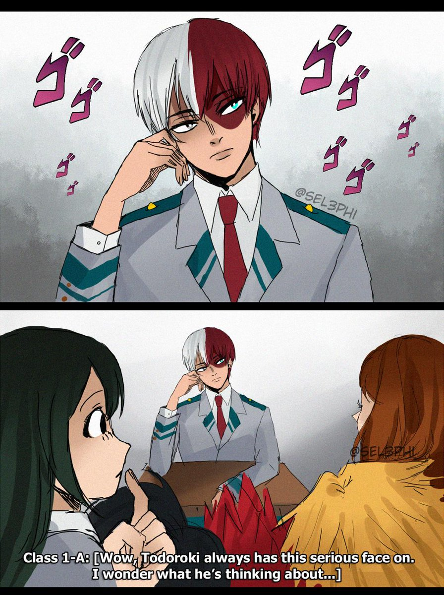 Todoroki is Too Serious #轟焦凍 #BnHA<br>http://pic.twitter.com/D6TVyDmPlG