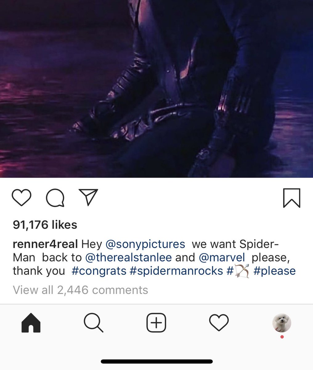 America's number one triple-threat (acting/singing/archery) Jeremy Renner has weighed in on the Spider discourse <br>http://pic.twitter.com/s9kywhtnCy