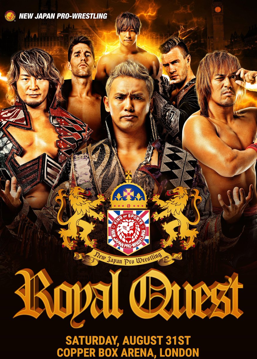 Meet and greet details for #NJPWRoyalQuest have been finalised! Fans can get ultimate combo passes WEDNESDAY EVENING at 7PM BST! Tanahashi! Naito! Suzuki! Shibata! Jay! Juice! Ospreay! ZSJ! GoD! Details:   https://www. njpw1972.com/58146      #njpw <br>http://pic.twitter.com/GaSXPtTMVD