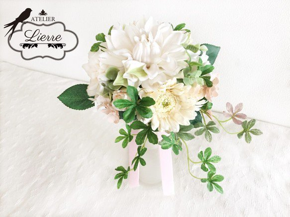 お花のアトリエ リエールでは、素敵なインテリアフラワーをCreemaで販売中!ギフトやオーダーメイドも承りますhttps://t.co/v46txWobED #Creema #花 #ギフト #ブーケ #リース #スワッグ
