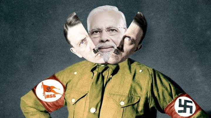 Bloody fasciast modi is the face of HITLER  #UnlockKashmirToBreath<br>http://pic.twitter.com/A0SvqNmi8d