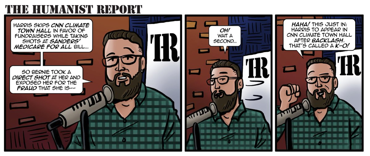 Meanwhile...over at the @HumanistReport the news happens pretty quick! #KO #Knockout #MakeComics #TheLeft<br>http://pic.twitter.com/WBIaCZAHPa